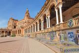 Seville - Plaza De Espana Square and Tiled 'Province Alcoves' Photographic Print by Renáta Sedmáková