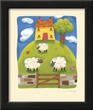 Yellow Farmhouse Posters by Sophie Harding