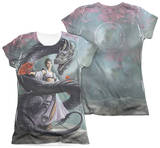 Juniors: Anne Stokes - Dragon Dancer (Front - Back Print) T-Shirt