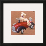 La Voiture Rouge Prints by Raphaele Goisque