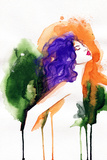 Beautiful Woman. Hand Painted Fashion Illustration Prints by Anna Ismagilova