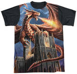 Anne Stokes - Dragon's Fury Black Back T-shirts