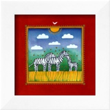 Zebras Print by L. Edwards