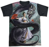 Anne Stokes - Dragon Dancer Black Back T-Shirt