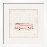 Pink Car Poster by Lauren Hamilton