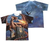 Youth: Anne Stokes - Dragon's Fury (Front - Back Print) Shirt