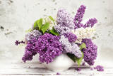 Beautiful Bunch of Lilac in the Vase Photographic Print by Alina G