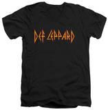 Def Leppard - Horizontal Logo V-Neck Shirts