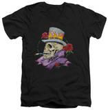 Poison - Classic Skull V-Neck T-Shirt