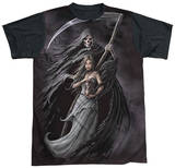 Anne Stokes - Summon The Reaper Black Back T-Shirt