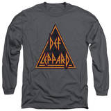 Long Sleeve: Def Leppard - Distressed Logo T-Shirt
