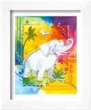 Jungle I, Elephant Prints by B. Meunier