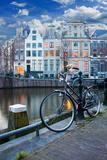 Eleganz in Amsterdam Fotografie-Druck von  badahos