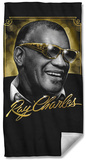 Ray Charles - Golden Glasses Beach Towel Beach Towel