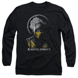 Long Sleeve: Mortal Kombat X - Scorpion Bust T-Shirt