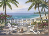 Coastal View Stretched Canvas Print by Sung Kim