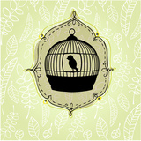 Elegant Nature Background with Birdcage Posters tekijänä rebekka ivacson