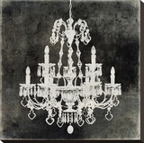 Chandelier II Stretched Canvas Print by Oliver Jeffries