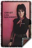 Joan Jett - Crimson And Clover Woven Throw Throw Blanket