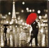 A Paris Kiss Lærredstryk på blindramme af Kate Carrigan
