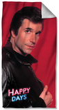 Happy Days - Red Fonz Beach Towel Beach Towel