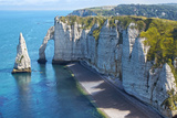 Chalk Cliffs at Cote D'albatre. Etretat Photographic Print by Marina Ignatova