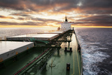 Cargo Ship Underway Photographic Print by Lukasz Zakrzewski