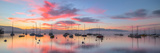 Sunrise and Sailboats Photographic Print by  akulamatiau