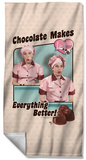 Lucy - Friends And Chocolate Beach Towel Beach Towel