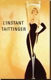 O momento Taittinger, em francês Impressão em tela esticada