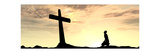 Conceptual Religion Cross with a Man Banner Posters af  high_resolution