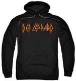 Hoodie: Def Leppard - Horizontal Logo Pullover Hoodie