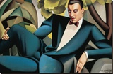 Portrait du Marquis d'Afflitto Stretched Canvas Print by Tamara de Lempicka