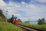The Train on Circum-Baikal Photographic Print by  afrutin