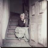 Marilyn Sitting On Leinwand