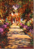 Il Viale del Gardino Stretched Canvas Print by Claude Monet