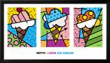 I Love Ice Cream Art by Romero Britto