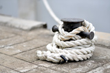 An Image of a Rope in a Port of USA Photographic Print by  Costin79