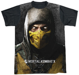 Mortal Kombat X - Finish Him Black Back Shirt