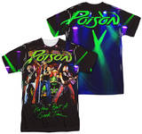 Poison - Good Time Live (Front - Back Print) T-Shirt