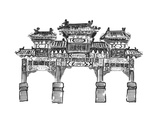 Hand Draw Chinese Archway Posters by  jim80