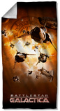 Battlestar Galactica - Dog Fight Beach Towel Beach Towel