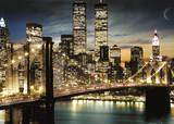 New York - Manhattan Lights Reprodukcje