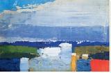 Landskap vid middagstid|Noon Landscape Sträckt kanvastryck av Nicolas De Staël