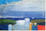 Paysage du midi Pingotettu canvasvedos tekijänä Nicolas De Staël