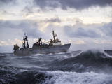 Fishing Ship in Strong Storm. Photographic Print by Igor Chaikovskiy