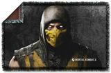 Mortal Kombat X - Scorpion Woven Throw Throw Blanket