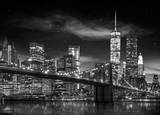 New York - Freedom Tower Black and White Poster
