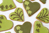 Patricks Day Green Cookies with Sugar Icing Clover Photographic Print by  postsmth