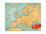 Map of Europe - Turkey (Summer Style) Prints by  Tindo